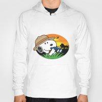 snoopy Hoodies featuring Safari Snoopy by Yildiray Atas