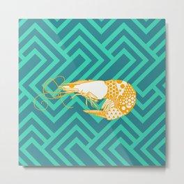 Shrimpy Metal Print