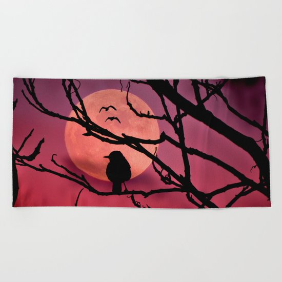 Moonlit dusk Beach Towel