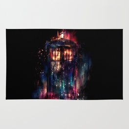 TARDIS Doctor Who Abstract Time Space Travel Rug