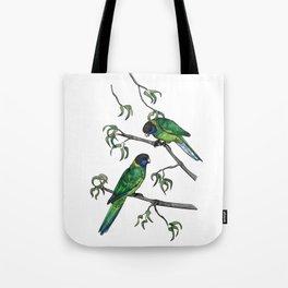 Ringneck Parrots Tote Bag