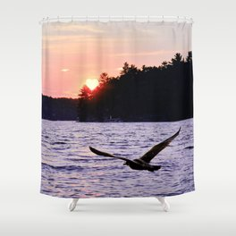 Fly into the Sunset Shower Curtain