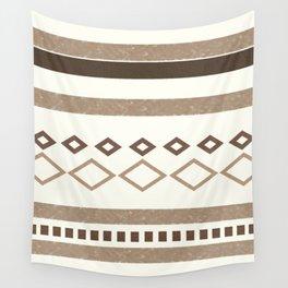 Western Pattern, Out West, Patterns, Brown, Tan, Beige, Shapes, Geometric Western Art Wall Tapestry