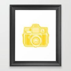 I Still Shoot Film Holga Logo - Sunshine Yellow Framed Art Print
