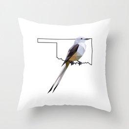 Oklahoma – Scissor-Tailed Flycatcher Throw Pillow