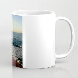 Sunset glowing on the limestone Cliffs Coffee Mug