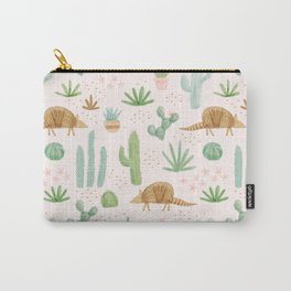 Armadillos in the Desert - Watercolor Carry-All Pouch