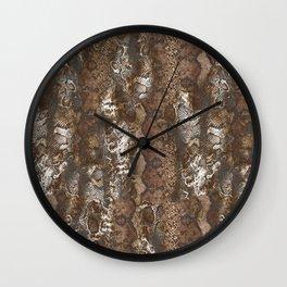 Luxury Animal Print Wall Clock