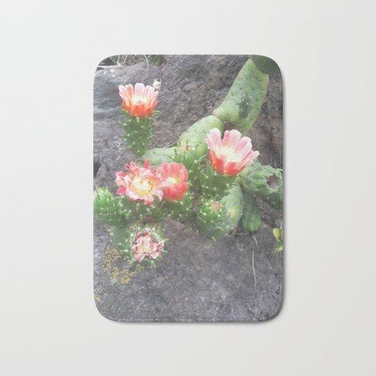 A cactus in its bloom Bath Mat