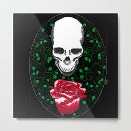 Skulls and roses Metal Print
