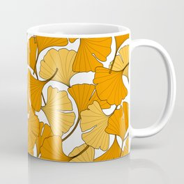 ginkgo leaves (orange) Coffee Mug