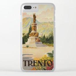 Trento Italy Statue Dante Clear iPhone Case