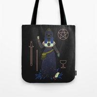 tarot Tote Bags featuring Witch Series: Tarot Cards by LordofMasks