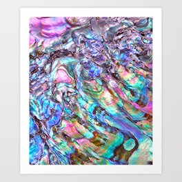 Shimmery Rainbow Abalone Mother of Pearl Art Print