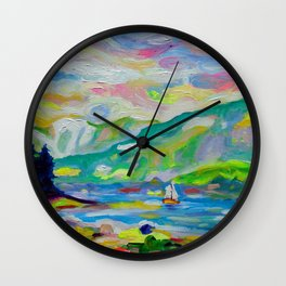 Summer Sailing, Denman Wall Clock