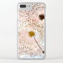 Dandelion field. Beautiful and soft vector watercolor Clear iPhone Case