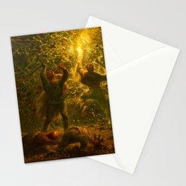 12,000pixel-500dpi - Jean-Francois Millet - Birds-nesters - Digital Remastered Edition Stationery Cards