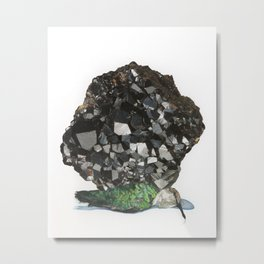 Grounded Jewel Black Metal Print