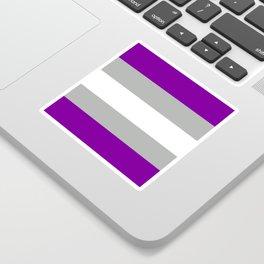 grey-asexual pride flag Sticker