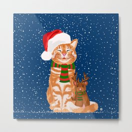 Christmas Buddies Metal Print