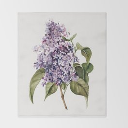 Lilac Branch Throw Blanket