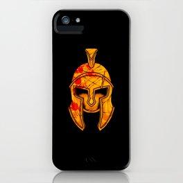 Spartan Helmet - Marked By Battle - Warrior  iPhone Case