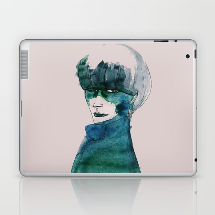 Blue-Green Skin Laptop & iPad Skin