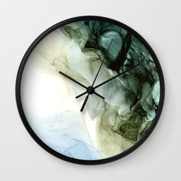 Land and Sky Abstract Landscape Painting Wall Clock