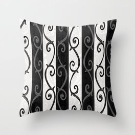 Burtonesque Stripes and Swirls.. Throw Pillow