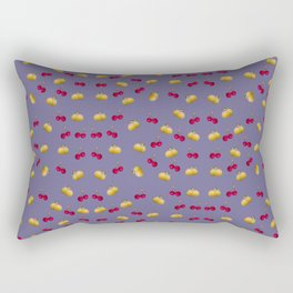 cherries and plums on ultraviolet background Rectangular Pillow