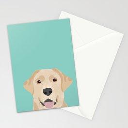 Yellow Lab dog portrait labrador retriever dog art pet friendly Stationery Cards
