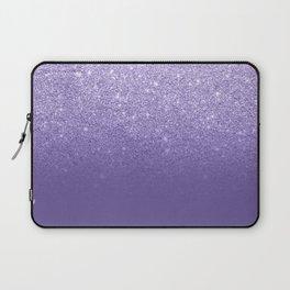 Modern ultra violet faux glitter ombre purple color block Laptop Sleeve