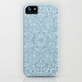 Mandala on Light Blue Jeans iPhone Case