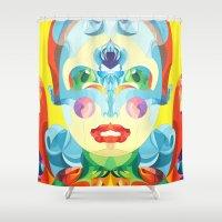 i woke up like this Shower Curtains featuring I Woke up like This by Anai Greog