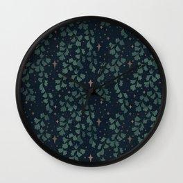 Stars though the ferns Wall Clock