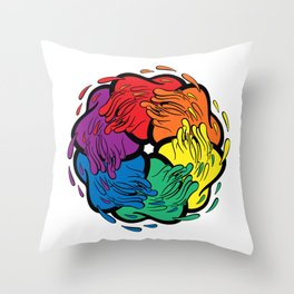 Pride Love Movement Throw Pillow