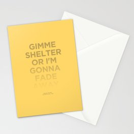 I'm Gonna Fade Away Stationery Cards