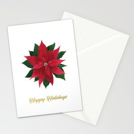 Christmas flower - Poinsettia Stationery Cards