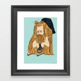 Viking man  Framed Art Print