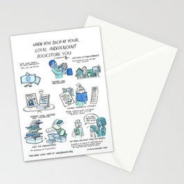 Support Your Independent Bookstore Stationery Cards
