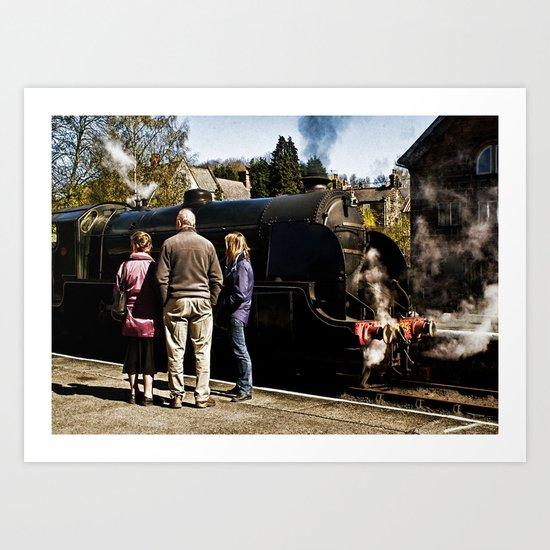 The Train Now Standing Art Print