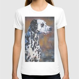 The Dalmatian dog art portrait from an original painting by L.A.Shepard T-shirt