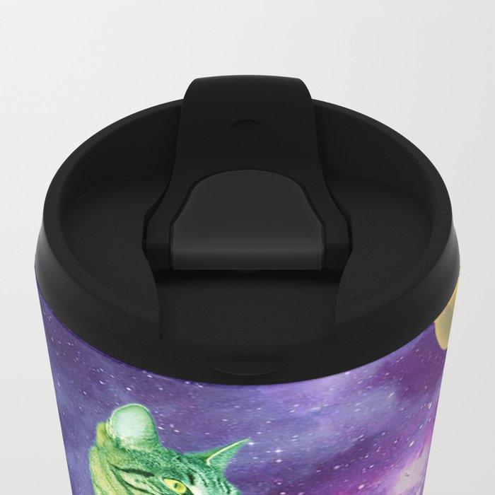 Saturn cat Metal Travel Mug