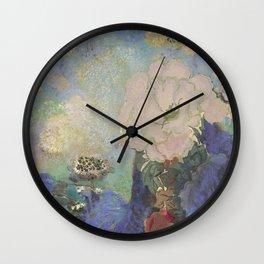 A remembrance of Redon- Purple Haze Wall Clock