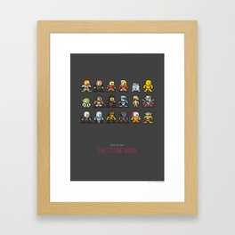 Mega Star Wars: The Clone Wars Framed Art Print