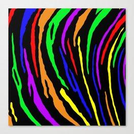 Rainbow Tiger Stripes Canvas Print