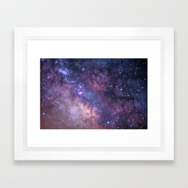 Purple Galaxy Star Travel Framed Art Print