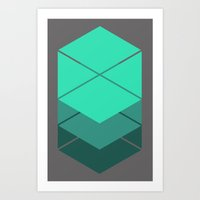 titan Art Prints featuring Titan's Glyph by Kidney Theft