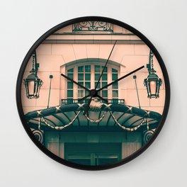Paris luxury facades Wall Clock
