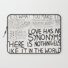 love has no synonyms Laptop Sleeve